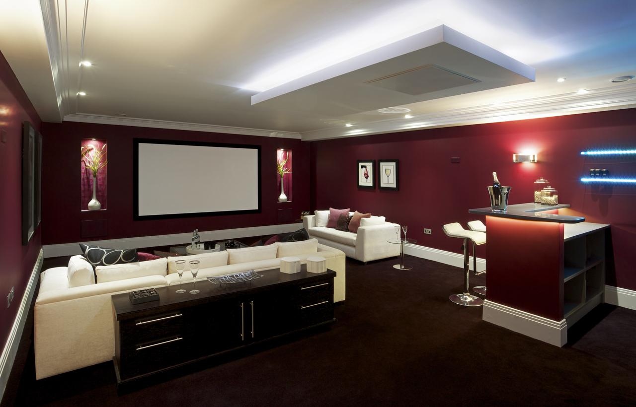 beautiful cinema room